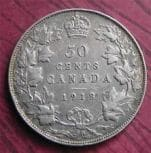 1918 50 cent canadian coin