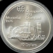 $10 silver Canadian olympic coin