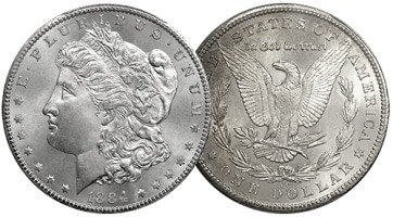 1884 Morgan Dollar for Blog