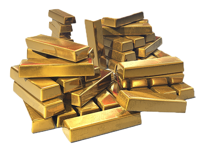 gold bars transparent image