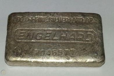 Engelhard struck silver bar