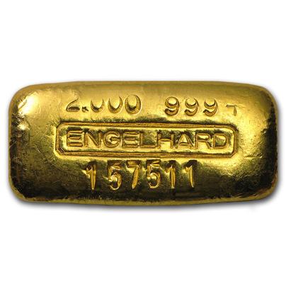 Engelhard struck gold bar