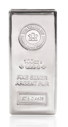 royal canadian mint silver bullion bar
