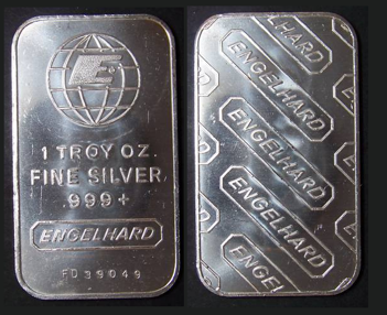 Engelhard 1 troy oz silver bar