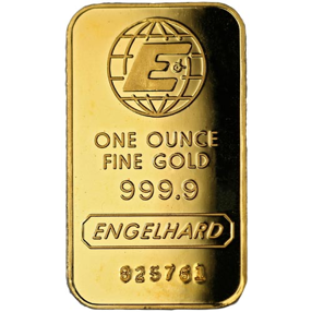 Engelhard one ounce gold bar 999 pure